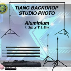 Bracket Stand 10ft untuk Backdrop Tiang Stand Background Foto Studio 3