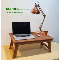 Meja Lipat Laptop Lesehan Serbaguna Kayu Meranti 75x45Cm - [ALPRO]