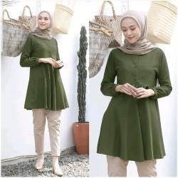 Baju Atasan Wanita Terbaru Rafelia Tunik Muslim Rempel Terbaru