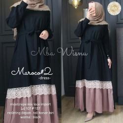 Maroco Dress wanita / Baju gamis wanita terbaru / Gamis Syari Pesta