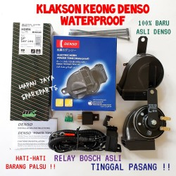 Klakson Keong Denso Waterproof ORIGINAL plus Relay
