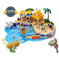 "Puzzle 3d | PLANTS VS ZOMBIES ""Big Wave Beach"" 