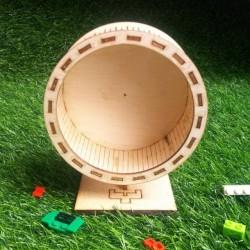 rolling joging wheel hamster kayu diameter 12.5cm