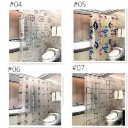 Tirai/korden kamar mandi anti air + pengait plastik termurah #2