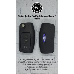 Casing Flip Key Ford Fiesta Ecosport Focus 3 Tombol