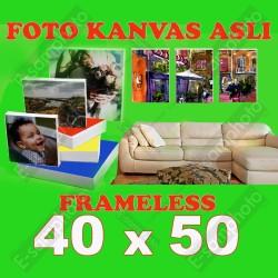 Foto Kanvas Asli Frameless 40x50 / 40x60 / 50x60