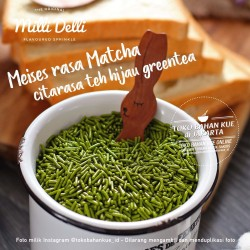 Milli Delli Meises GREENTEA 100gr Meses Green Tea Sprinkle Premium