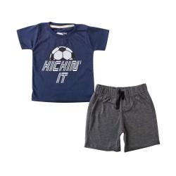 Bearhug Setelan Bayi Laki-laki Kicking Navy XUF 6-18 Bulan