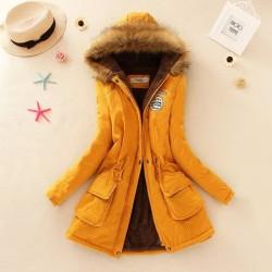 Jaket Winter Wanita Import / Jaket Parka Bulu Musim Dingin Import