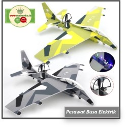 Mainan Pesawat Foam Elektrik | Pesawat Terbang Busa Elektrik Recharge
