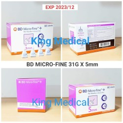 Jarum Insulin Pen Needle BD MICRO FINE 31 G - 5 MM ( isi 100 )