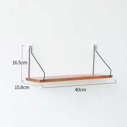 Kmanca | rak gantung dinding penyimpanan ambalan kayu besi kuat 40 CM