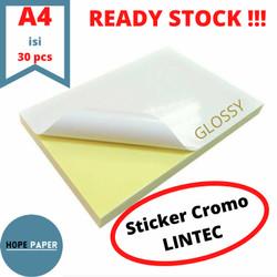 Kertas Stiker Chromo Glossy A4 - 30pcs / Kertas Stiker / Sticker Cromo