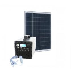 PAKET SOLAR SYSTEM PA-DP300 INVERTER 300W DAN SOLAR PANEL 100WP