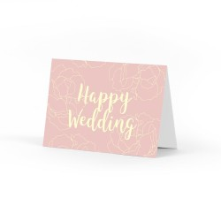 Happy Wedding Pink Card | Kartu Ucapan Kosong | Greeting Card