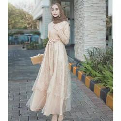 Jual Jildan Dress Long Dress Brukat Baju Kondangan Gamis Remaja Jildan Mocca Jakarta Utara Grosir29kaos Tokopedia