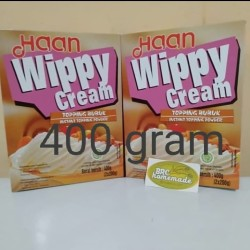 Haan Wippy Whippy Whipped cream Topping Bubuk Instan Powder 400 gram