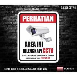 sticker safety sign K3 area ini dilengkapi cctv 30cm