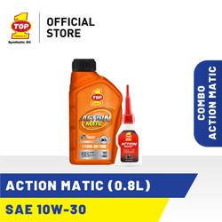 Paket Motor Matic A - TOP 1 ACTION MATIC SAE 10W-30 | 0.8 L