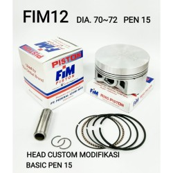Piston kit FIM Modifikasi Pen 15 Ukr 70 / 70.5 / 71 / 71.5 / 72 Mentah