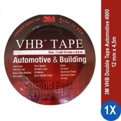 3M VHB Double Tape Automotive 4900 size 12mm x 4.5m -Double Tape Mobil