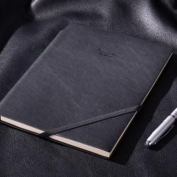 Deli notebook kulit bisnis,desain selipan ballpen 22215