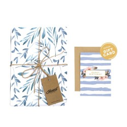 Paket Kertas Kado & Kartu Harvest Gift Set - Good Vibes Branches