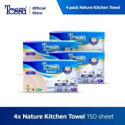 Tissue Tessa - 4 pack Nature Kitchen Towel Interfold 150s Unbleach