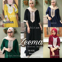 Daster Arab - Dress Muslimah Wanita - Dress Arab - Zeema Baju Arab - Hitam