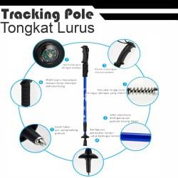 trekking / tracking pole / tongkat gunung - Hitam