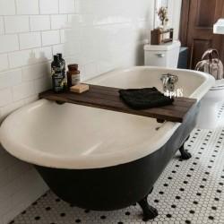 wooden bathtub tray / meja kayu bathtub 04 wallnut