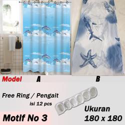 Tirai Kamar Mandi / Shower Curtain High Quality Gorden Kamar Mandi