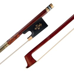 R&L☞ Violin Bow (Pernambuco Bow Stick Black Ebony Frog and