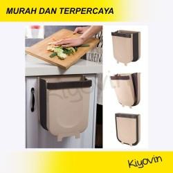 Tempat Tong Sampah Dapur Gantung Lipat Portable Dapur Basah Kering