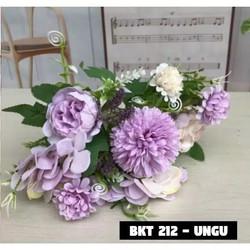 Bouquet bunga BKT 212 Artifisial Dekorasi - BKT 212-UNGU