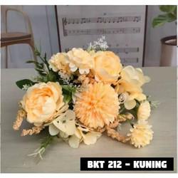 Bouquet bunga BKT 212 Artifisial Dekorasi - BKT 212 -KUNING