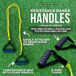 SVARGA Resistance Band Foam Handles 2 Pieces for Resistance Tubes