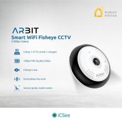 ARBIT - Wifi CCTV Fisheye Panoramic 1080P 2MP Storage up to 128GB