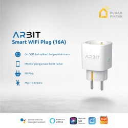 ARBIT Wifi Smart Plug Socket 16A with Power Meter Works Alexa Google