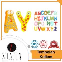 Tempelan Kulkas Alfabet/ Huruf Bahan Kayu Zivon TA1 - Angka