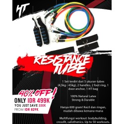 Resistance Band Set Bands Tube Tubes Alat Fitness Portable Workout Gym