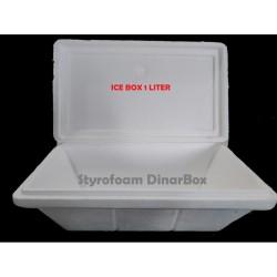 STYROFOAM box 1 dan 1/2 ltr / DinarBox / Ice Cream / Frozen / Gelato - 1 l