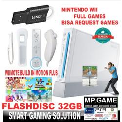 Paket Nintendo Wii + 32gb Flashdisc Full Games Nintendowii - Komplit 2Set