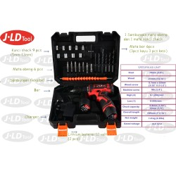 Cordless Drill Battery 12V include Tool Kits 24 Pcs by JLD Tools