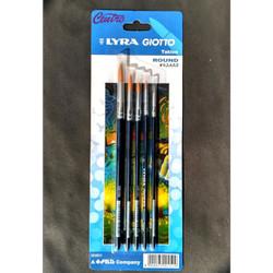 Lyra Giotto Art Brush Set 5 Taklon Round Kuas Lukis Cat Air Akrilik