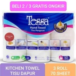TISSUE HAND TOWEL PENGESAT, TESSA KITCHEN 3 ROLL,TISU DAPUR ROL GULUNG