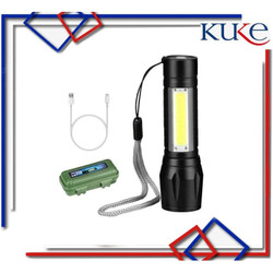 KUKE SX-U3 Senter Mini XPE COB Led Swat Police Light Recharge