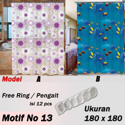 Tirai Kamar Mandi / Shower Curtain High Quality Gorden Kamar Mandi - No 13