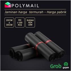 Plastik Polymailer ECO-BLACK Hitam 20x30 cm