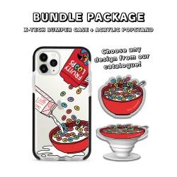 BUNDLE PACKAGE - X-Tech Bumper Case (iPhone) & Acrylic Popstand